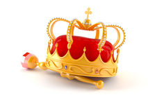 Crown. Isolated on white background Royalty Free Stock Photos