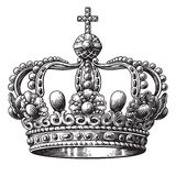 Crown isolated on white background Stock Photography
