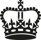 Crown in Keep calm style Royalty Free Stock Image
