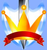 Crown and khife Royalty Free Stock Photos