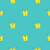 Crown King  design element. Seamless background Stock Photography