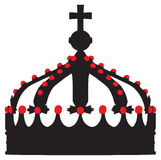 Crown king  outline silhouette Royalty Free Stock Photos