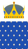 Crown for King and Royal pattern. Vector set for Kingdom. Stock Images