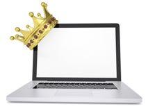 Crown on laptop Royalty Free Stock Image