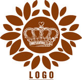 Crown. With leafs has been created using illustrator Stock Image