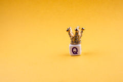 Crown on letter cube Royalty Free Stock Photos