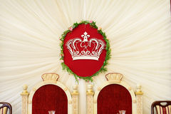 Crown like decoration on wedding Stock Image