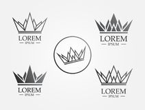 Crown Line Icon Logo. With line and polygon greatly simple and elegant for logo or mobile app vector illustration