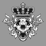 The crown and the lion skull. Royalty Free Stock Image