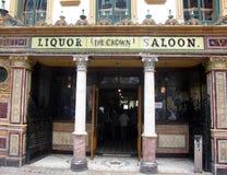 Crown Liquor Saloon. BELFAST, NORTHERN IRELAND - JULY 22: the Crown Liquor Saloon on July 22, 2009 in Belfast, Northern Ireland. The Crown, with ornate interior Stock Photos