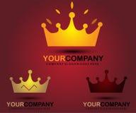 Crown logo design Royalty Free Stock Photography