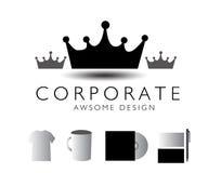 Crown logo design Stock Images
