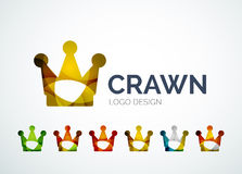 Crown logo design made of color pieces Royalty Free Stock Photography