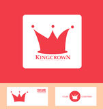 Crown logo red icon set Royalty Free Stock Photography