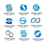 Letter s logo set royalty free illustration