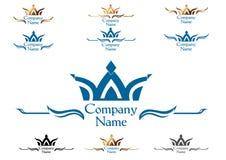 Crown - logo, symbol, emblem, sign. Crown-logo, symbol, emblem, sign. isolated image, set of different variants, color and monochrome stock illustration