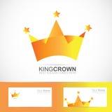 Crown logo stock illustration