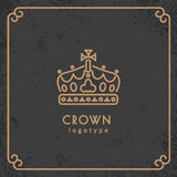 Crown logotype Royalty Free Stock Images