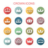 Crown long shadow icons Stock Photography
