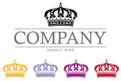 Crown Luxury Company Logo Template. Company vector logo template with crown Royalty Free Stock Photos