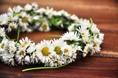 Crown made of daisies Royalty Free Stock Image