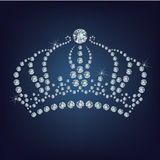 Crown made a lot of diamonds Royalty Free Stock Photo