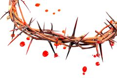 Crown made of thorns and blood drops Royalty Free Stock Photos