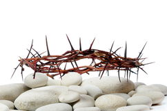 Crown made of thorns and river stones Royalty Free Stock Photos