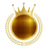 Crown medal frame Royalty Free Stock Photography
