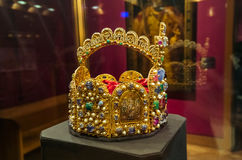 Crown in Museum Hofburg palace in Vienna Austria Royalty Free Stock Photo
