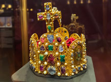 Crown in Museum Hofburg palace in Vienna Austria Royalty Free Stock Images