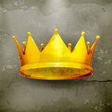 Crown, old-style. Computer illustration on gray background Royalty Free Stock Image