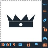 Crown icon flat vector illustration