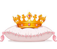 Crown on the pillow. Adorable crown on the pillow vector illustration
