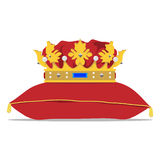 Crown on pillow Royalty Free Stock Photos