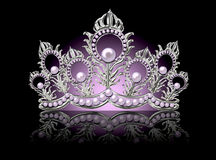Crown with pink pearls Royalty Free Stock Photo