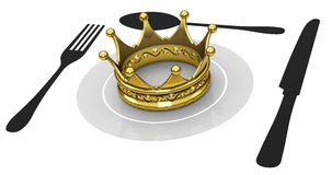 Crown on a plate Royalty Free Stock Photo