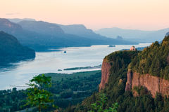 Crown Point in the Columbia Gorge at Dusk Stock Image