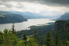 Crown point from the women`s forum, Oregon. stock photos