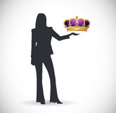 Crown presentation illustration design Royalty Free Stock Photos