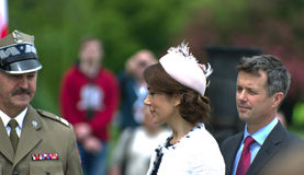 Crown Prince Frederik of Denmark and his wife, Pri Royalty Free Stock Image