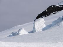 Crown prince Olav´s glacier on Jan Mayen Royalty Free Stock Photos