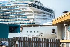 Crown Princess cruise ship docked at the Seattle waterfront Royalty Free Stock Image