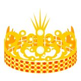 Crown of the Princess icon, cartoon style. Crown of the Princess icon. Cartoon illustration of crown of the Princess vector icon for web Stock Images
