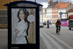 CROWN PRINCESS MARY ON COVER AND BILLBOARD Stock Photography