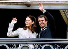 CROWN PRINCESS MARY & CROWN PRINCE FREDERIK Stock Photo