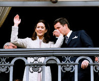 CROWN PRINCESS MARY & CROWN PRINCE FREDERIK. (File photo 8.OCT. 2003)Crown princess Mary and Crown pirnce Frederik has canclled their first thier officiel Stock Images