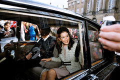 CROWN PRINCESS MARY & CROWN PRINCE FREDERIK Royalty Free Stock Photography
