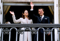 CROWN PRINCESS MARY & CROWN PRINCE FREDERIK Royalty Free Stock Photos