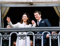CROWN PRINCESS MARY & CROWN PRINCE FREDERIK Royalty Free Stock Images